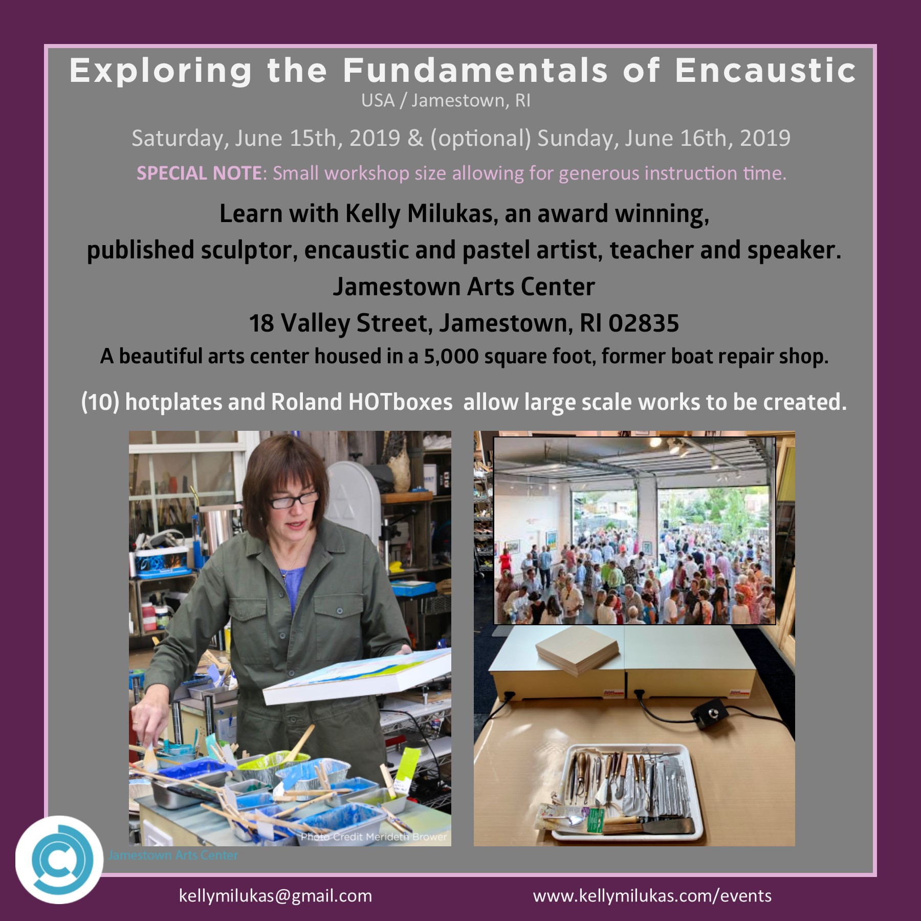 Fundamentals of Encaustic Painting with Kelly Milukas