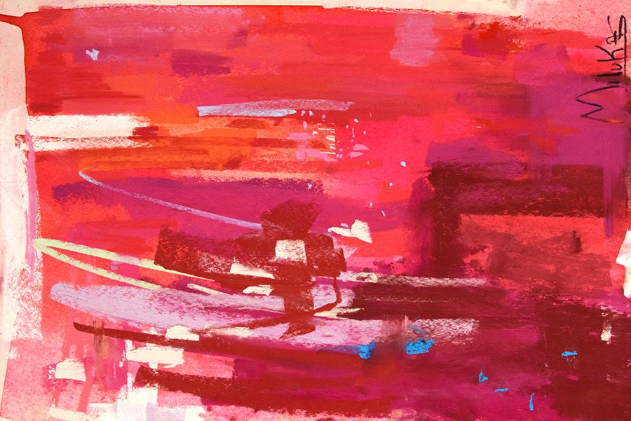 Elliptical Flow , Watercolor and Pastel 13×19