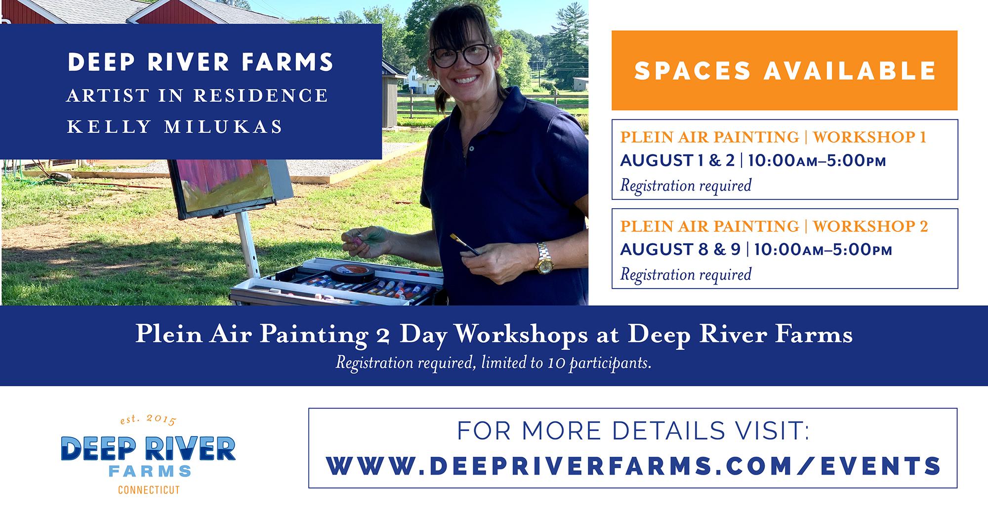 Plein Air Painting Workshops at Deep River Farms