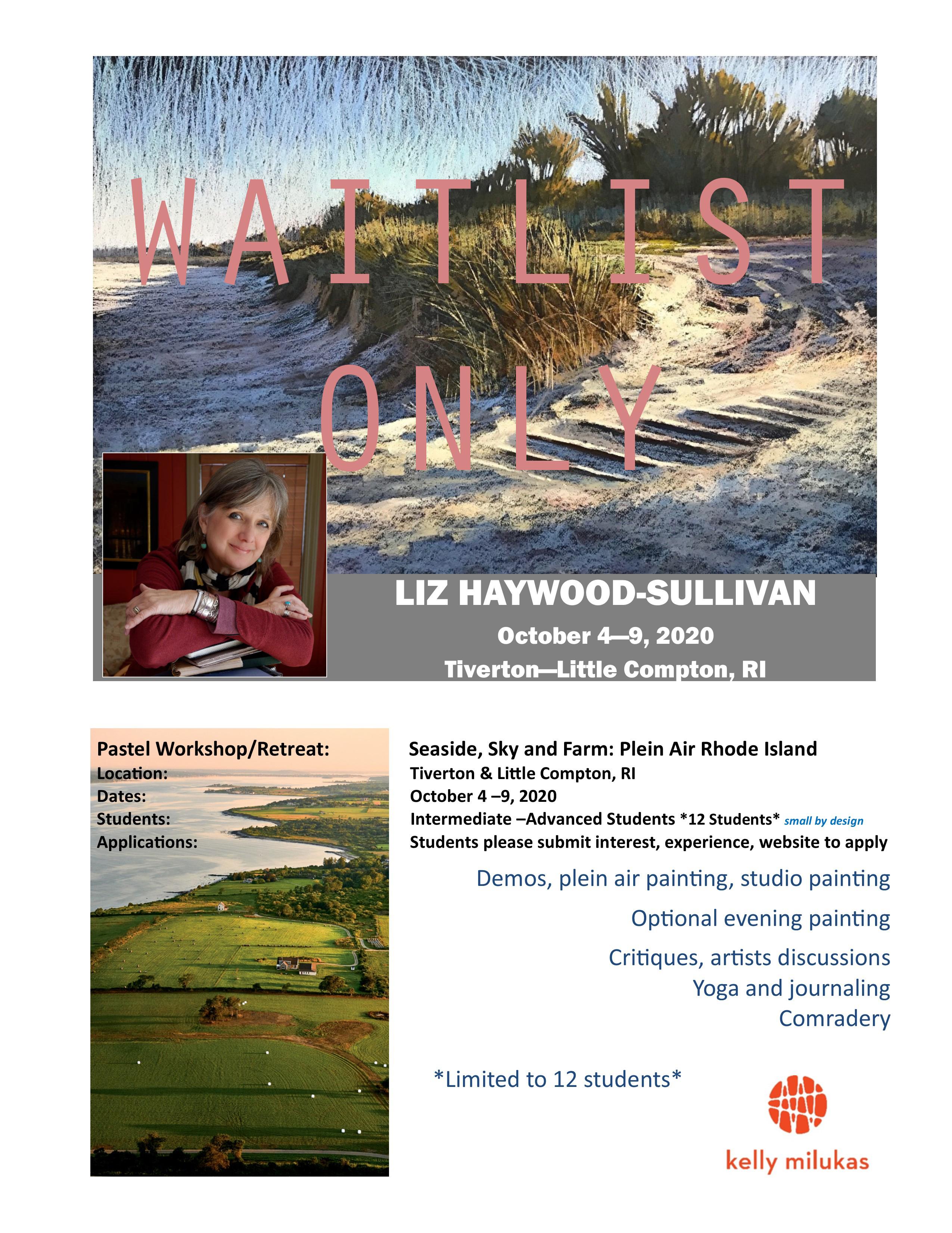 Liz Haywood-Sullivan Pastel Workshop & Retreat