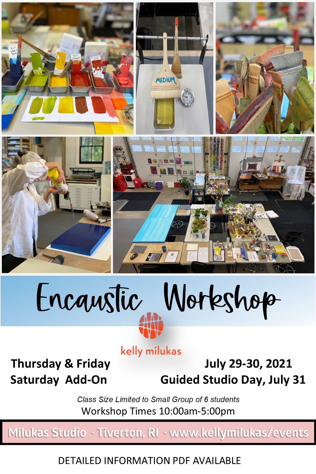 Encaustic Workshop July 29-30, 2021