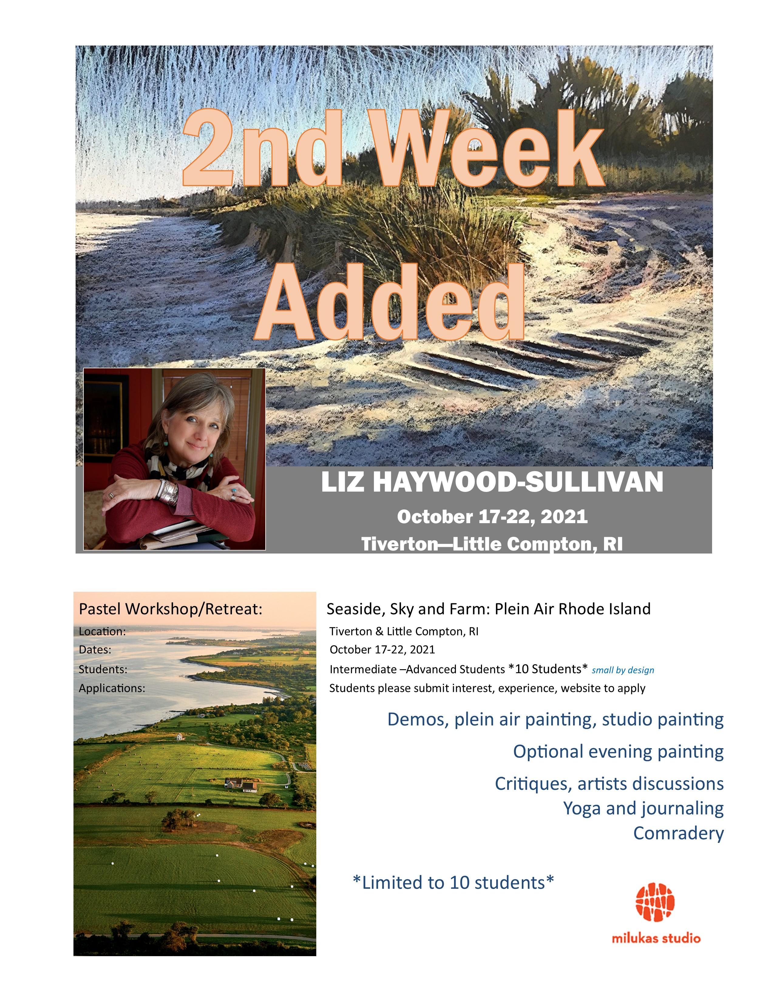 Liz Haywood-Sullivan 2nd Week Added October 17-22 2021